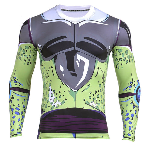 Cell's Body Armor Dragon Ball Z Compressor Shirt - Gamer Treasures
