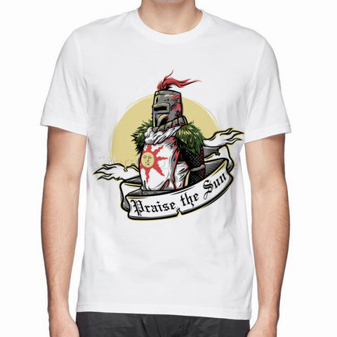 Solaire of Astora Praise The Sun Dark Souls T-shirt - Gamer Treasures