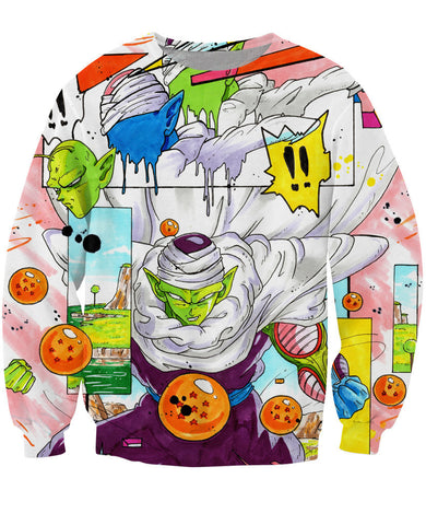 Piccolo the Namekian Dragon Ball 3D Sweatshirt - Gamer Treasures