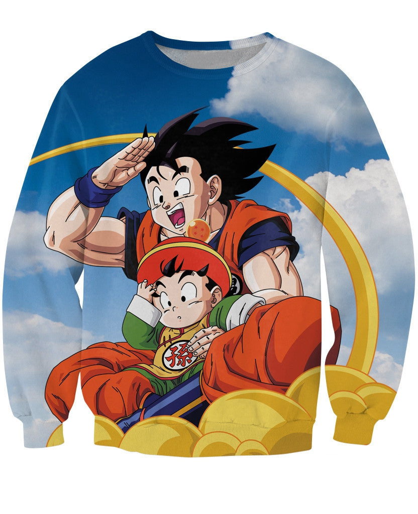Goku and Gohan Sweater - Gamer Treasures