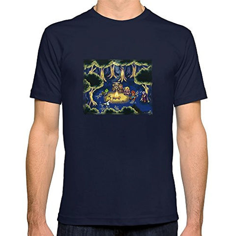 Chrono Trigger Campfire Reunion Navy T-shirt - Gamer Treasures