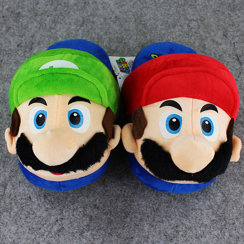Super Mario Bros Plush Indoor Slippers - Gamer Treasures