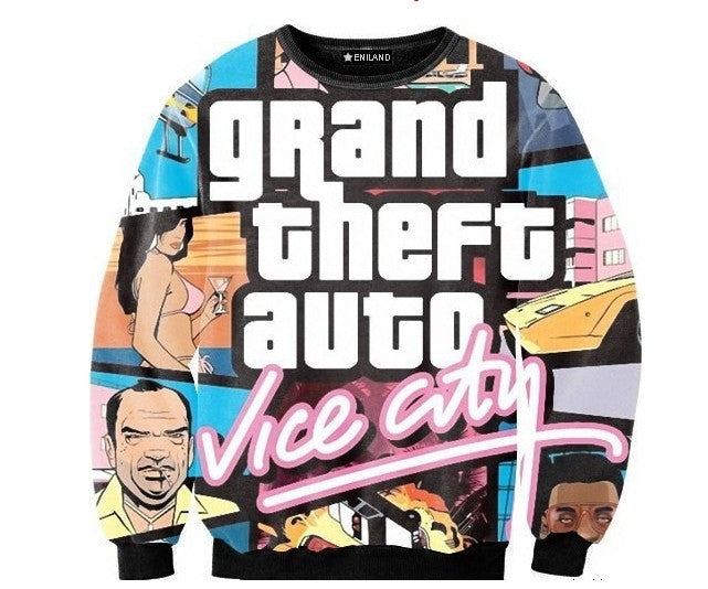 GTA Vice City Sweatshirt - Gamer Treasures