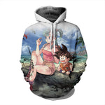 Bulma & Goku On The Beach Dragon Ball Hoodie