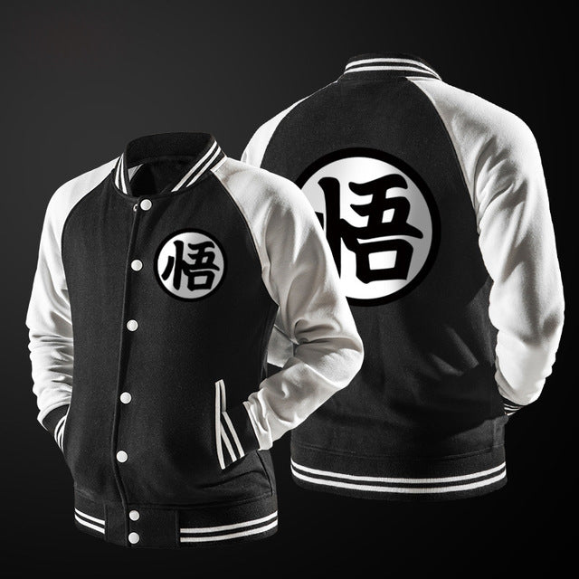 Dragon Ball Varsity Jacket Black - Gamer Treasures
