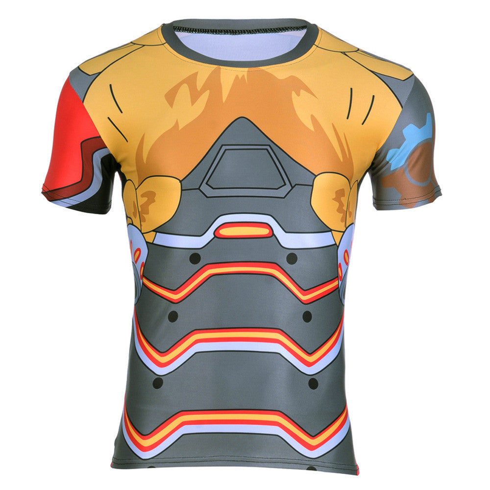Torbjörn Overwatch 3D Compression T-shirt - Gamer Treasures