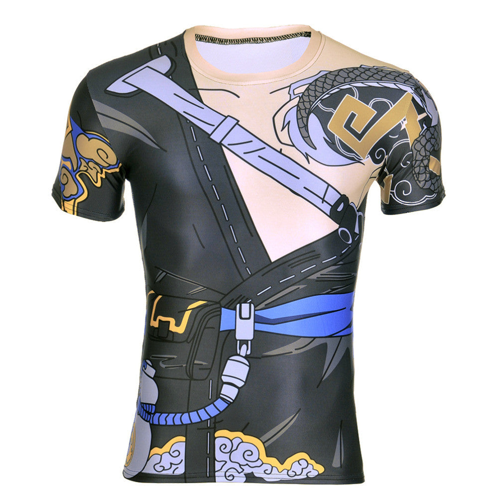 Hanzo Overwatch 3D Compression T-shirt - Gamer Treasures