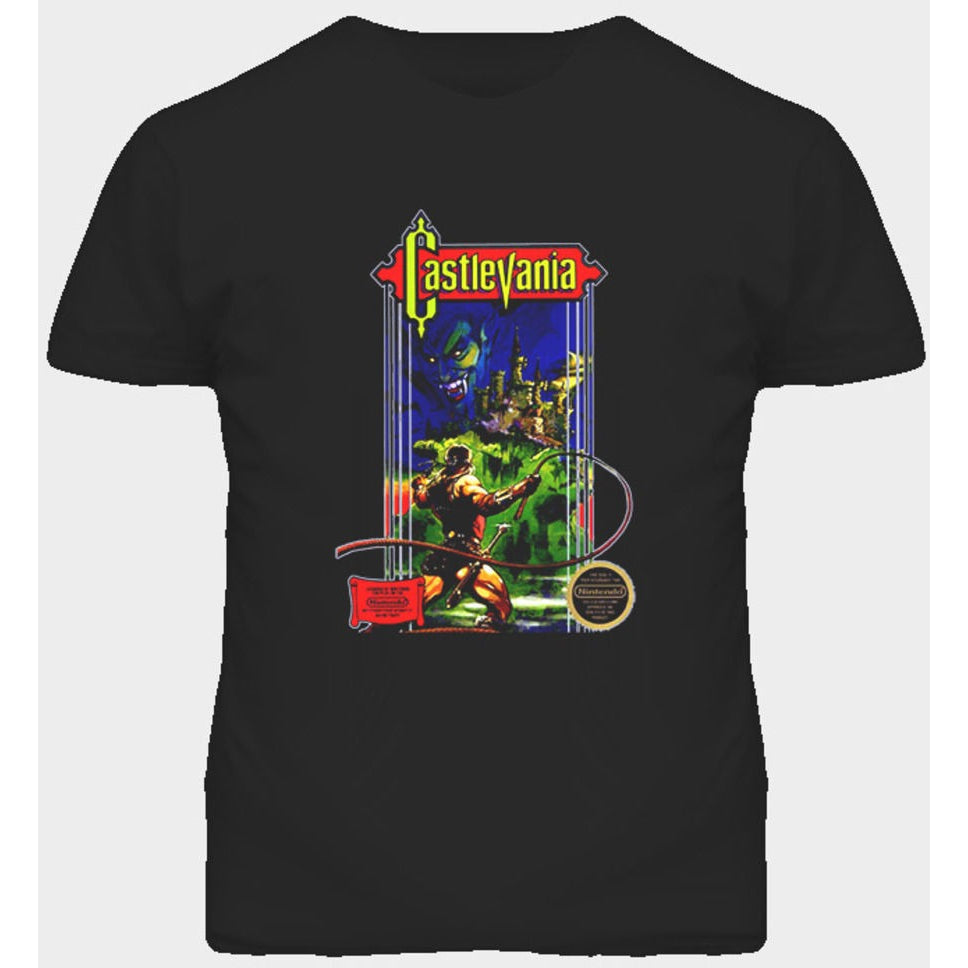 Castlevania Box Art T-shirt - Gamer Treasures