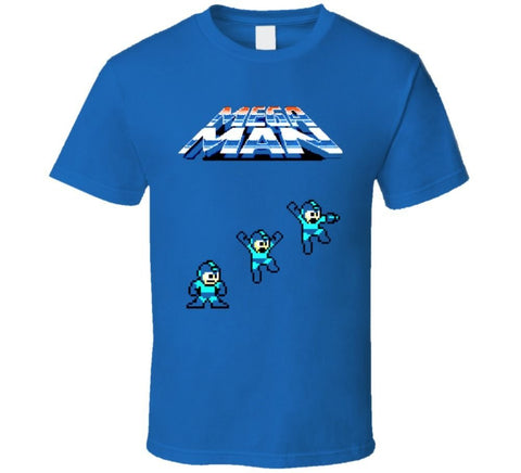 Mega Man Jumping T-shirt - Gamer Treasures
