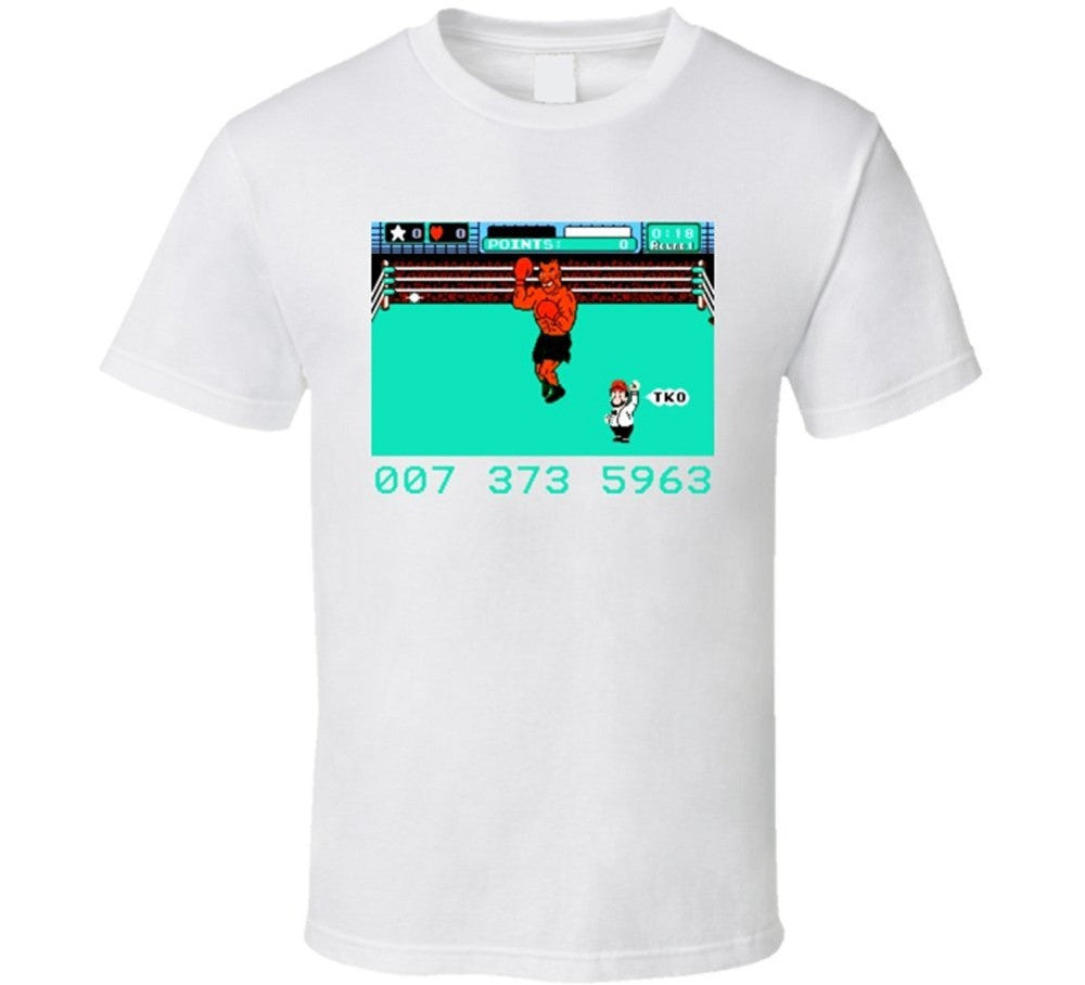 Punch Out Tyson Code T-shirt - Gamer Treasures