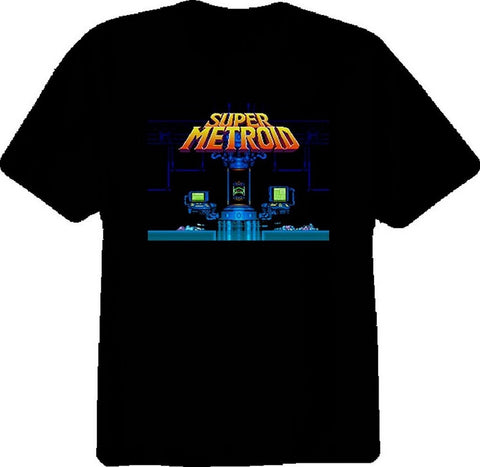 Super Metroid Title Screen T-shirt - Gamer Treasures
