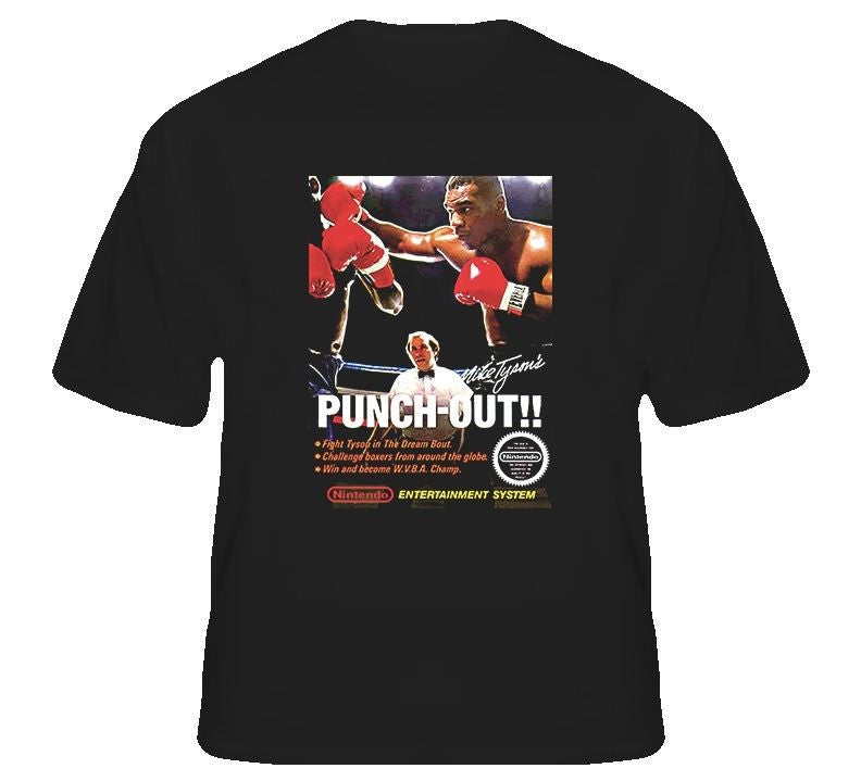 Mike Tyson's Punch-Out!! Box Art T-shirt - Gamer Treasures