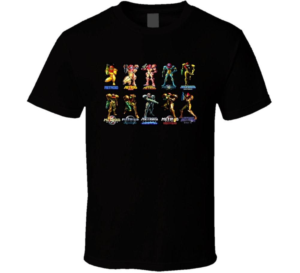 Metroid Evolution Of Samus T-shirt - Gamer Treasures