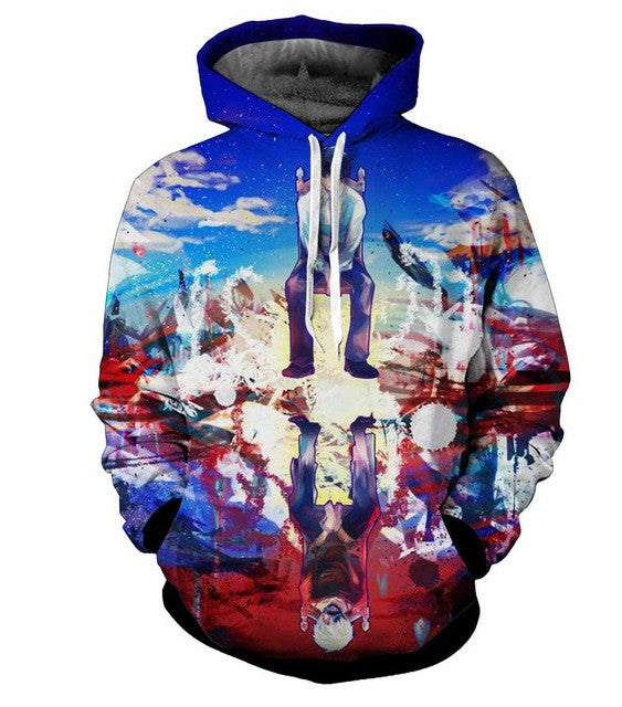Kaneki Ghoul Reflection Hoodie - Gamer Treasures