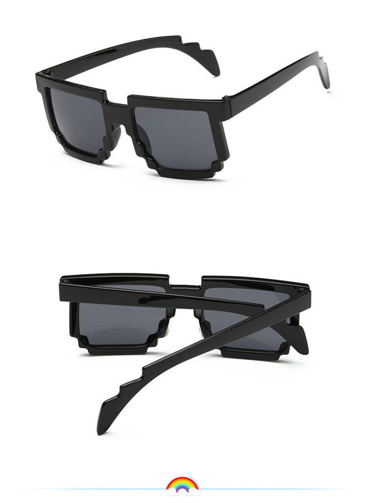 Kids Minecraft Pixelated Sunglasses (black) - Gamer Treasures