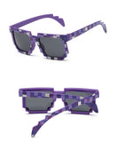 Kids Minecraft Pixelated Sunglasses (purple) - Gamer Treasures