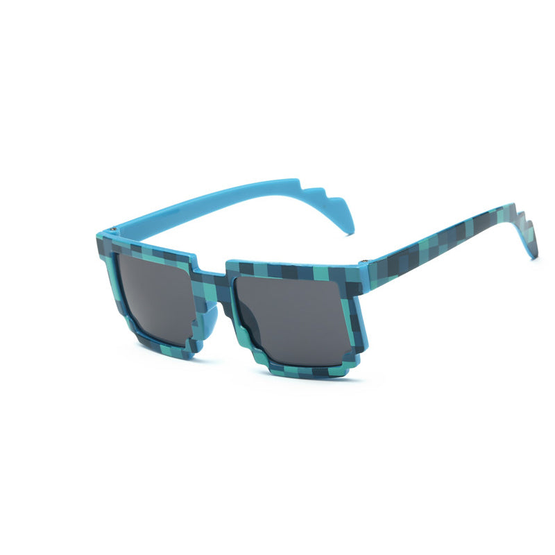 Kids Minecraft Pixelated Sunglasses (blue) - Gamer Treasures
