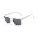Kids Minecraft Pixelated Sunglasses (white) - Gamer Treasures
