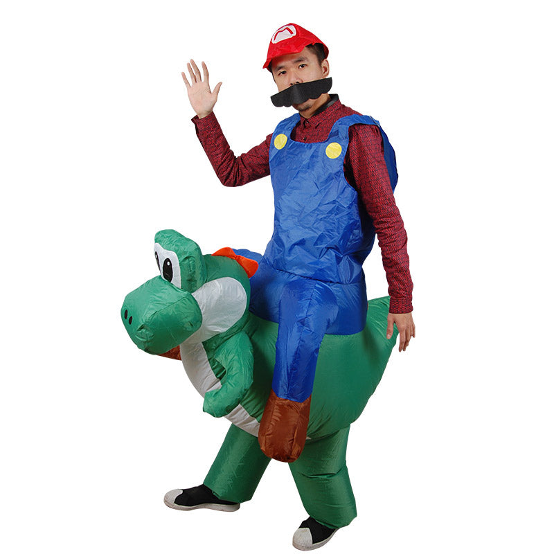 Mario Riding Yoshi Inflatable Costume - Gamer Treasures