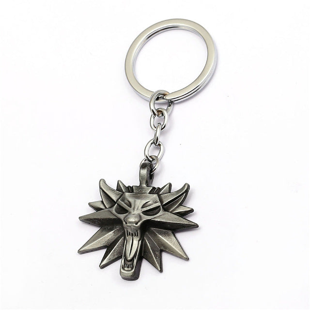 The Witcher Wolf Head Keychain - Gamer Treasures