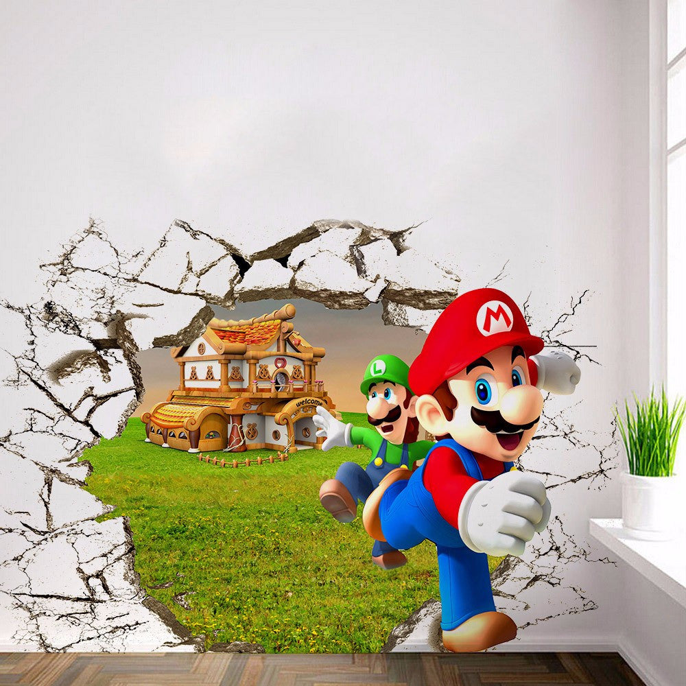 Mario Bros 3D Wall Sticker - Gamer Treasures