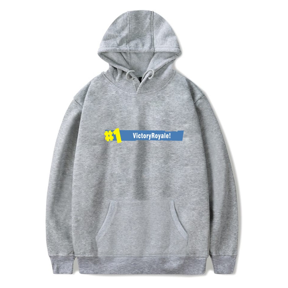 Victory Royale! Gray Hoodie - Gamer Treasures