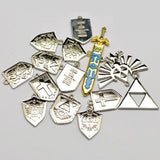 The Legend of Zelda Necklace Pendant Keychain Set