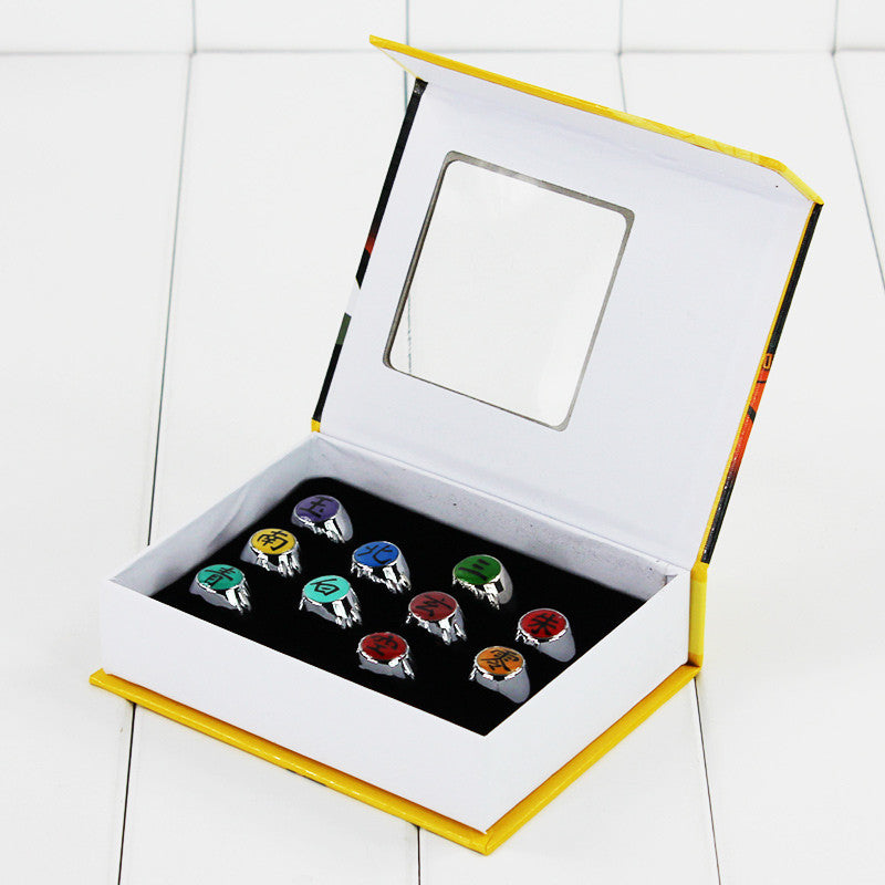 Naruto Akatsuki Member Rings 10pcs - Gamer Treasures
