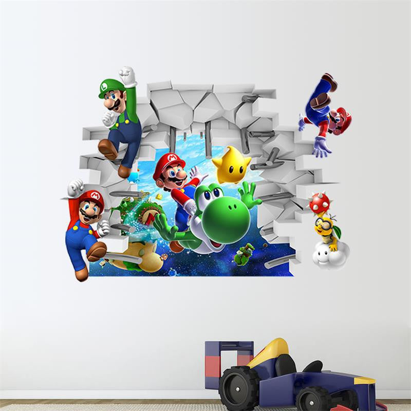 Super Mario Galaxy Wall Sticker
