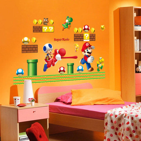 New Super Mario Bros Wall Sticker - Gamer Treasures