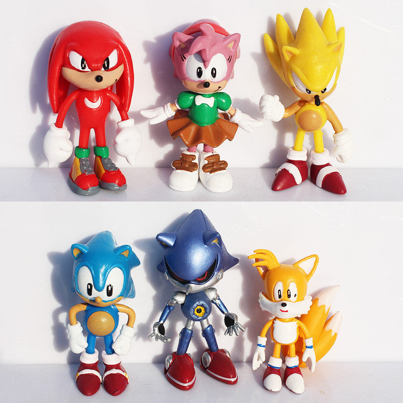 Sonic the Hedgehog PVC Action Figures 6pcs/set 7cm/3 inches - Gamer Treasures