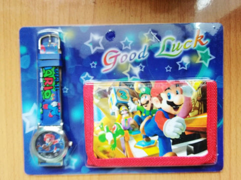 Super Mario Wristwatch with Wallet