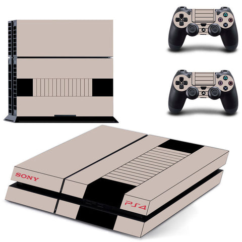 NES Style PS4 Skin Sticker - Gamer Treasures