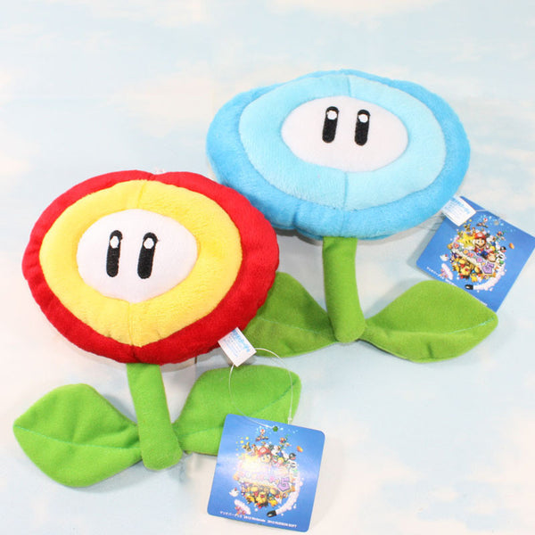 Fire Flower/Ice Flower Plush Toy 17cm/6.5inches - Gamer Treasures