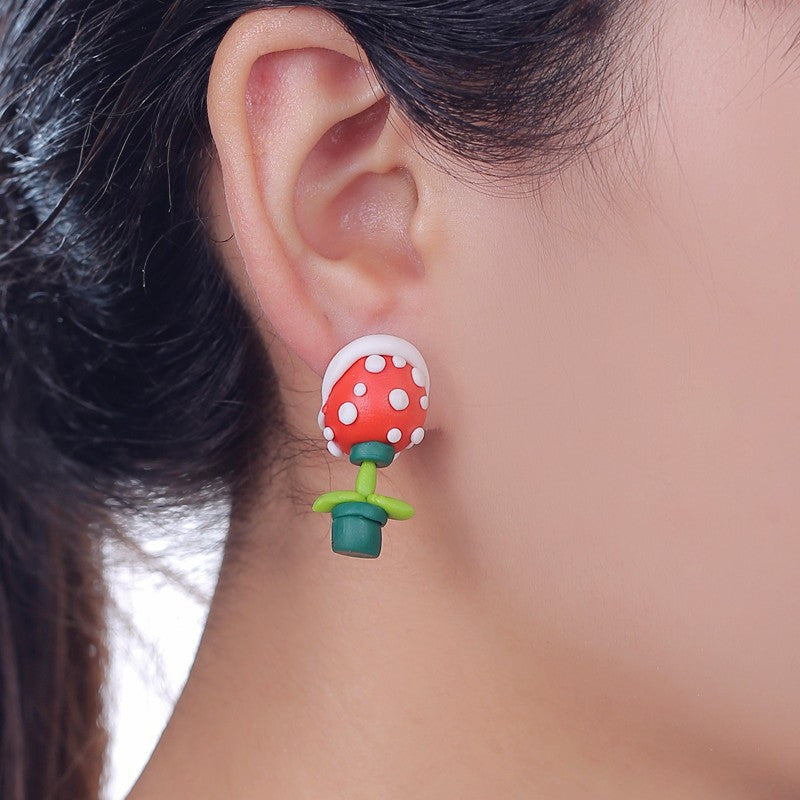 Piranha Flower Earrings - Gamer Treasures