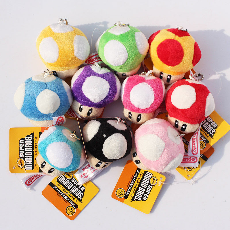 Mushroom Super Mario Keychains 10pcs/set - Gamer Treasures
