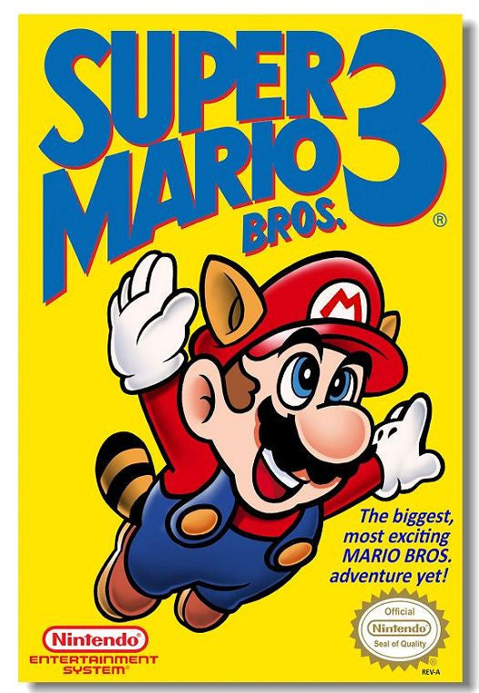 Super Mario Bros 3 Silk Print Game Poster - Gamer Treasures