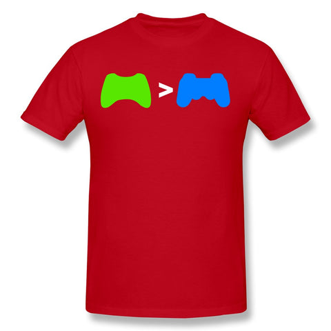 Xbox greater than PlayStation T-shirt