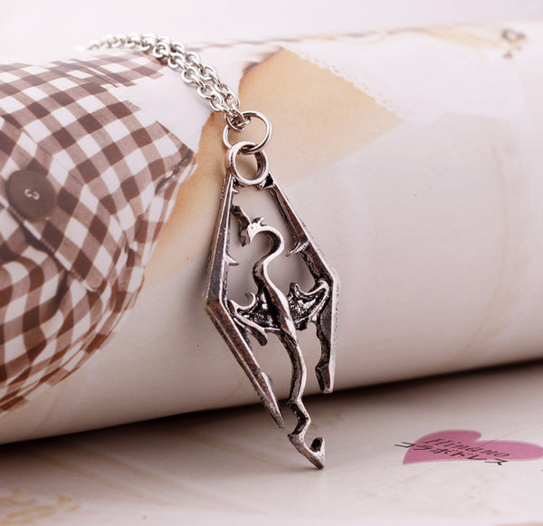 Elder Scrolls Skyrim Dragon Pendant - Gamer Treasures