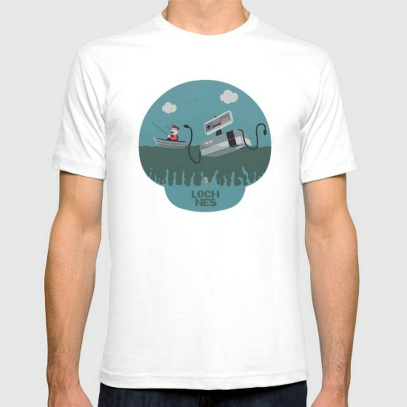 Loch NES Cotton T-shirt - Gamer Treasures