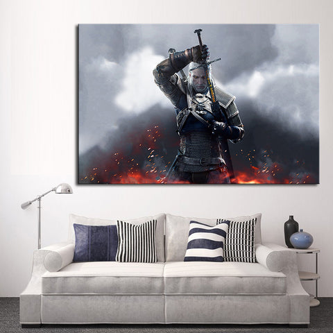 The Witcher III: Wild Hunt - Canvas Oil Painting (frame not included) - Gamer Treasures