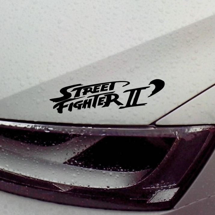Street Fighter II Waterproof Car Sticker 20x9cm (4 different colorways) - Gamer Treasures