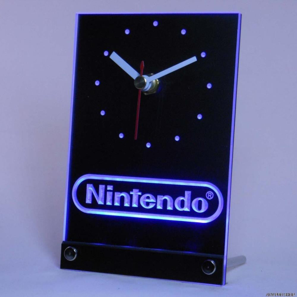 Nintendo 3D Desk LED Clock - Gamer Treasures