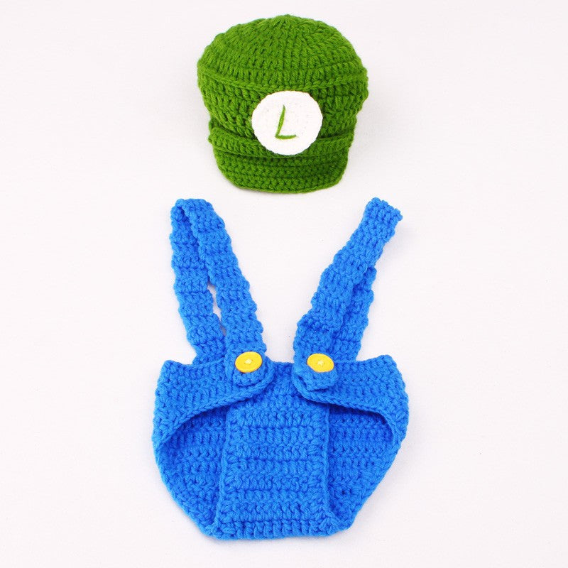 Baby Luigi Crochet Costume - Gamer Treasures