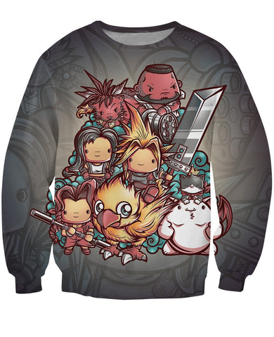 Final Fantasy VII Sweater - Gamer Treasures