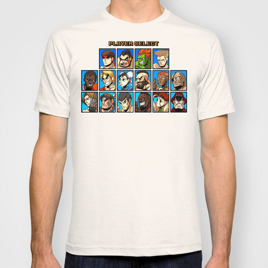 Street Fighter Player Select T-shirt