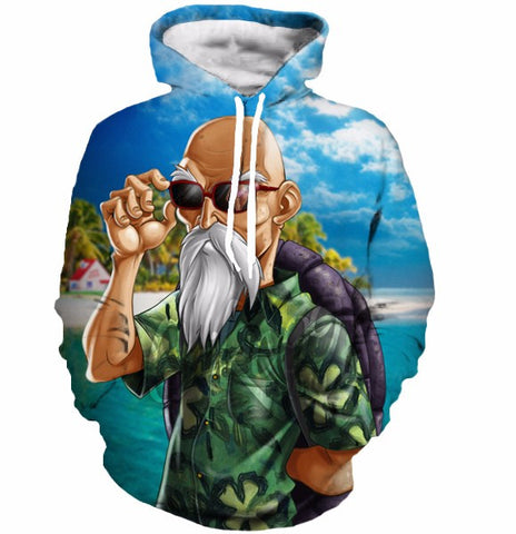 Master Roshi Dragon Ball 3D Hoodie - Gamer Treasures