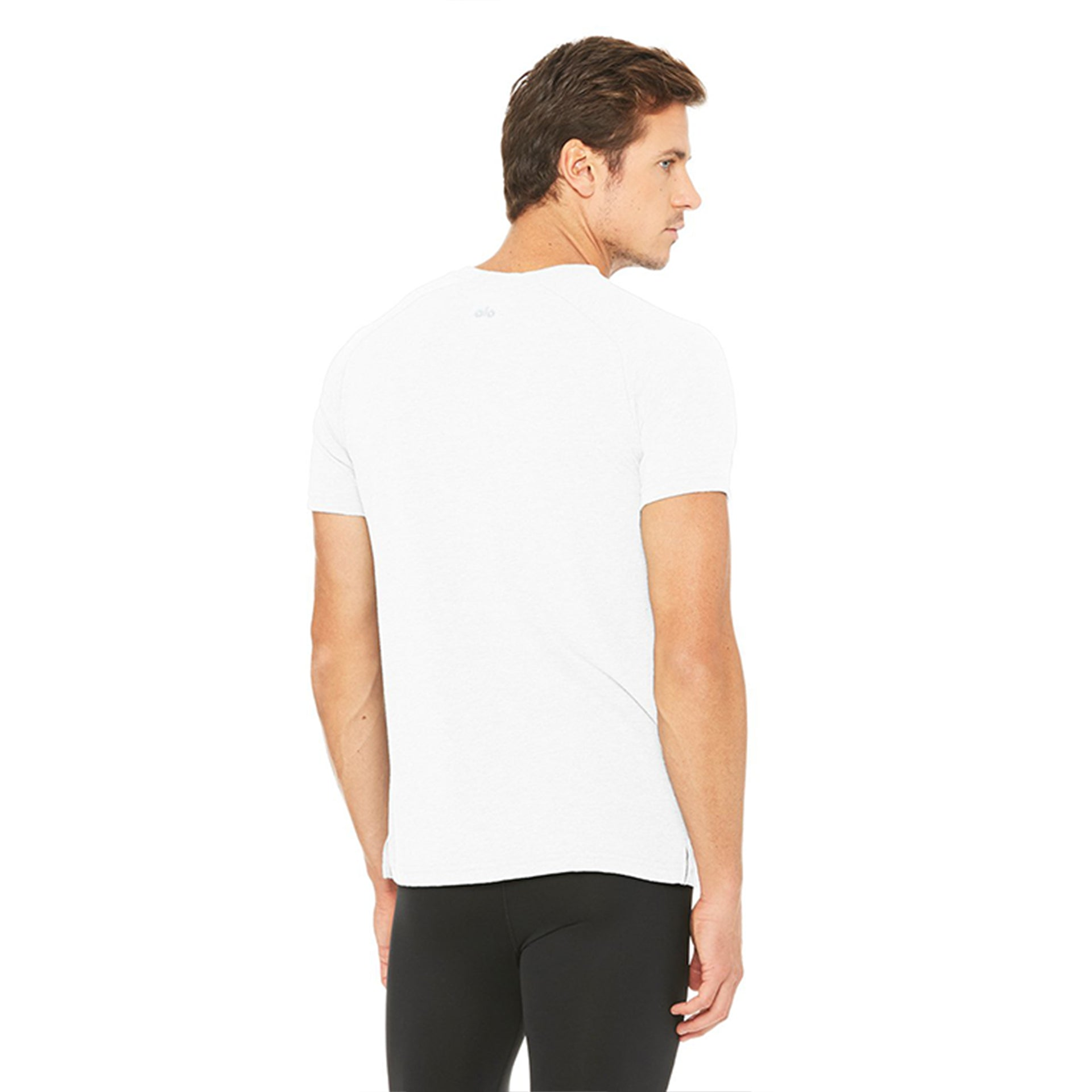 Alo Yoga Mens Triumph Crew Neck Tee in White