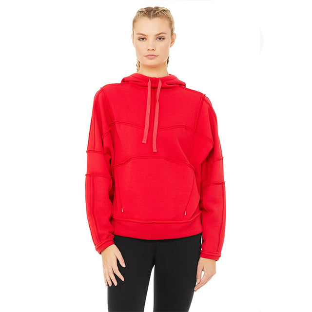 Alo Yoga Dimension Hoodie in Scarlet