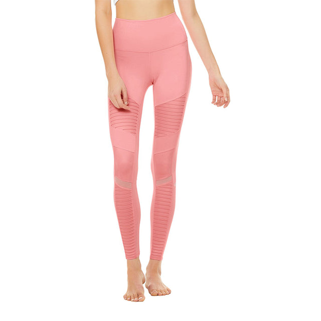 Alo Yoga High Waist Moto Legging in Macaron